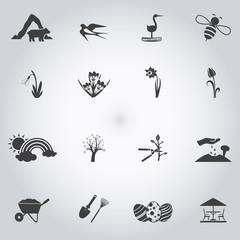 Spring icons set