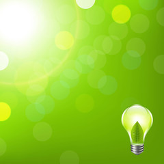 Green Background With Bokeh And Lamp
