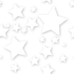 White stars on white background