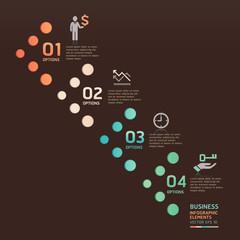 Modern business dot arrow options. Vector illustration. can be u