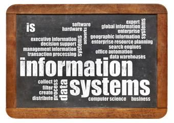 Wall Mural - information systems word cloud