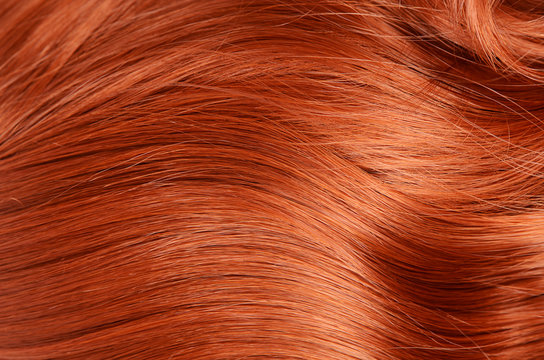 Beautiful red hair as a background