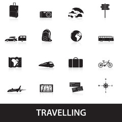 travelling icons eps10
