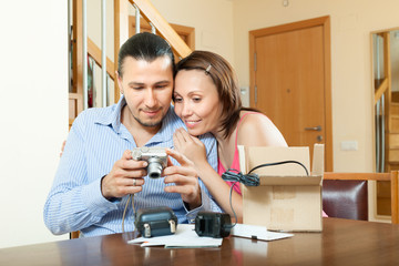 couple with new digital camera