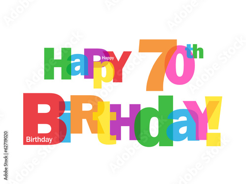 HAPPY 70TH BIRTHDAY CARD Seventy Party Celebration Congrats