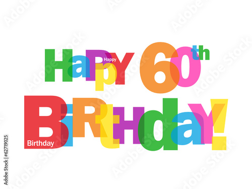 HAPPY 60TH BIRTHDAY CARD Sixty Party Celebration Congrats