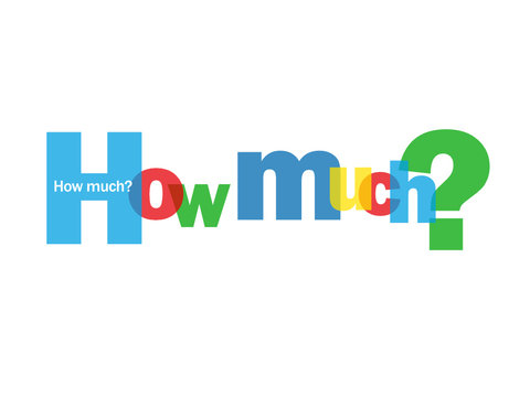 """""""HOW MUCH?"""" Letter Collage (questions price cost quantity sale)"""
