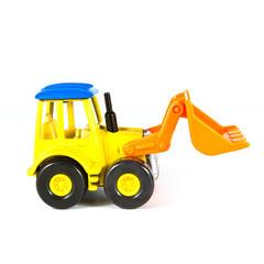 a toy loader excavator