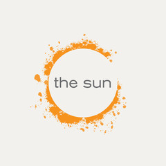 Vector logo sun
