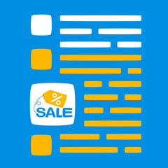 text with a sale