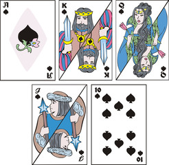 playing cards - complect of spades