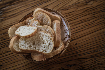 Bread Plate on Wooden Table
