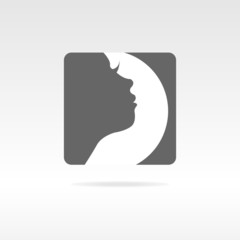Graphic design girl face icon health
