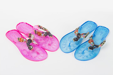 sandals on the white background