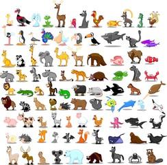 Супер набор мило мультфильм животных