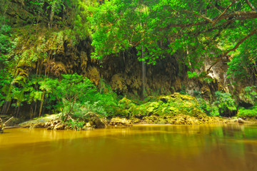 Fototapeta T Lor Lae waterfall,Um Phang,Tak,Thailand obraz