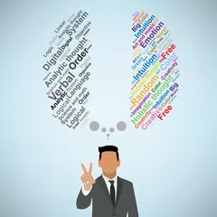 Creative brain Idea concept background design for poster flyer c