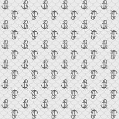 Seamless patterns, gray anchors