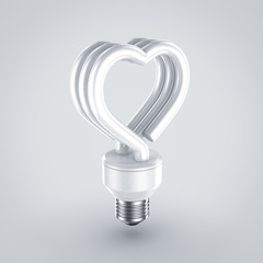 fluorescent light heart shape