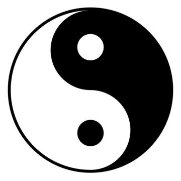 Black and white yin-yan symbol