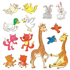 animal cartoon set.