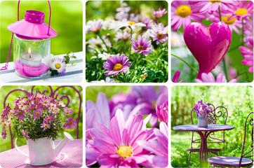 Frühling im Garten - Collage