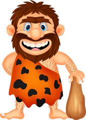 Funny caveman cartoon