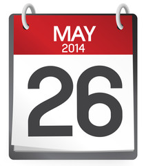 Calendar of 26th of May 2014 Vector