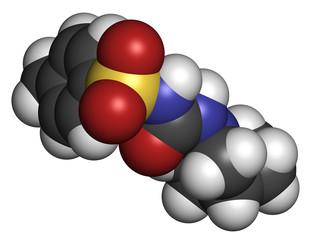 Gliclazide diabetes drug molecule.