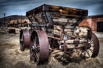 Ghost town wagon, Bodie California Wall mural