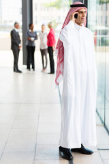 muslim businessman in traditional clothes