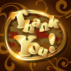 """""""Thank You"""" card or background. Vector Illustration."""