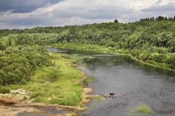 Река Волошка в Архангельской области. Россия