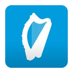 Etiqueta tipo app azul simbolo arpa