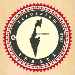 Vintage label-sticker cards of Israel.