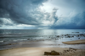 Storm on the Beach. Tarifa. Cadiz. Andalusia