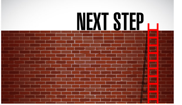 next step over a wall illustration