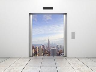 elevator to city