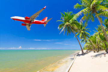 Flying for tropical holidays