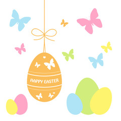 """HAPPY EASTER"" Card (egg message icon celebration party time)"