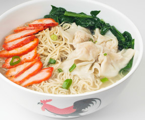 Hong Kong food, wonton noodle