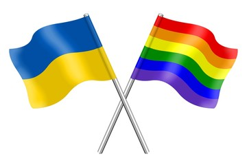 Ukraine and rainbow