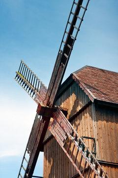 Windmill sails / Old wooden  windmill
