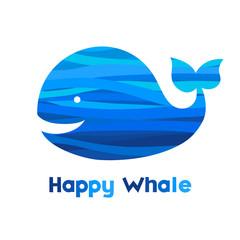 Cheerful whale.