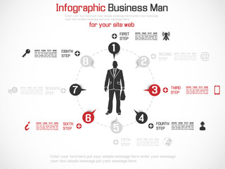 INFOGRAPHIC BUSINESS MAN SPECIAL EDITION