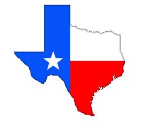 Texas map flag icon logo banner