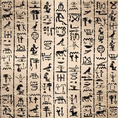 Egyptian hieroglyphics grunge background