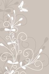floral,abstrakt,weiss,weiß,silhouette, blatt,blumen,blätter