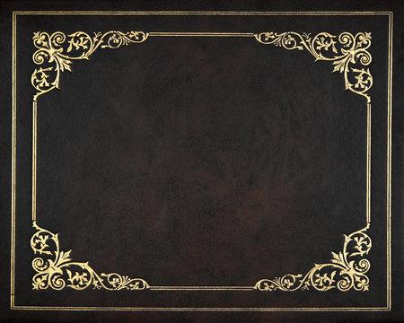 Dark leather cover