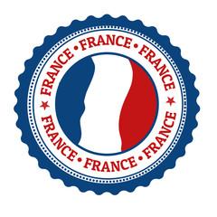 France stamp or label